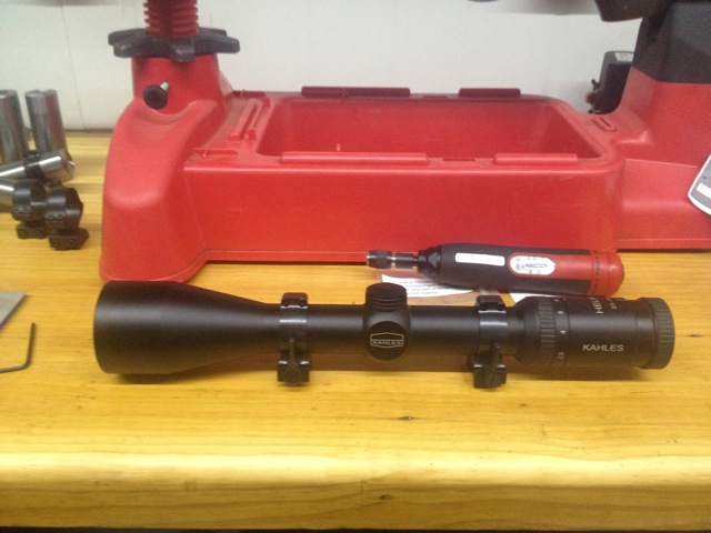 Scope with rings fitted